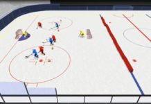 U8 tactic 3 on 3 hockey drill