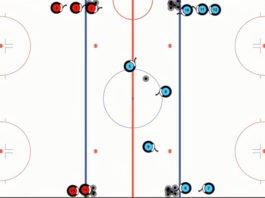the finn 2 on 1 hockey drill