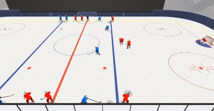 Frolunda 2 on 2 Gap Control hockey drill