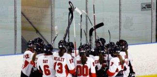 girls hockey players