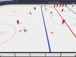 get open 2-on-1 hockey drill