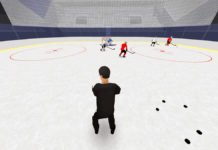net-front play hockey drill