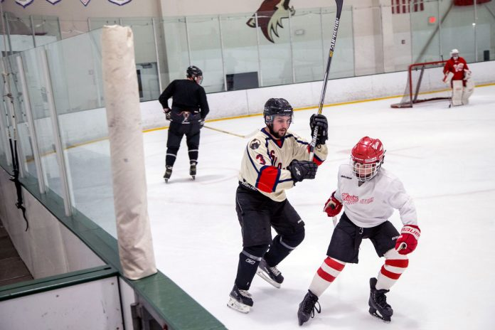 playing hockey with your kids