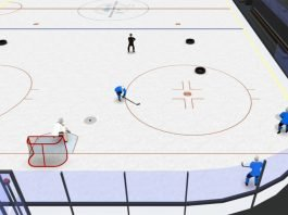 give and go loop hockey drill