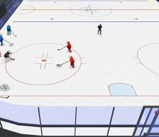 providence 2-on-1 spacing hockey drill